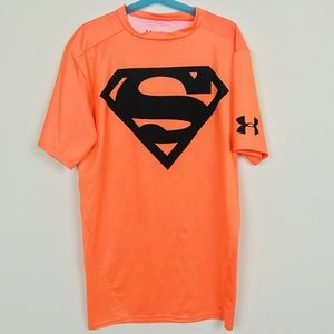 Under Armour Man Top Heat Gear Superman Sz: M